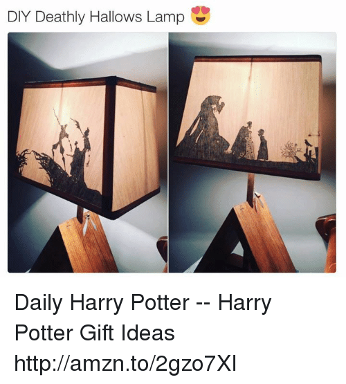 Diy Deathly Hallows Lamp Daily Harry Potter Harry Potter