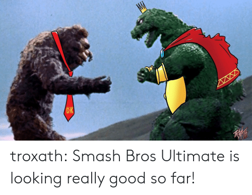 Smashing, Tumblr, and Blog: DK  W troxath:  Smash Bros Ultimate is looking really good so far!