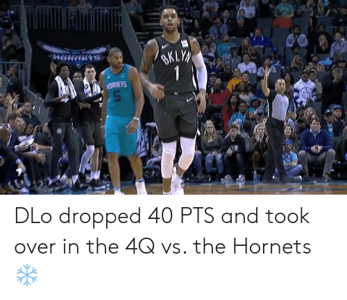 Hornets, Pts, and Over: DLo dropped 40 PTS and took over in the 4Q vs. the Hornets ❄️