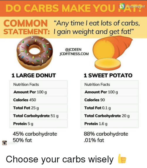 """Anaconda, Facts, and Protein: DO CARBS MAKE YOU st COMMON """"Any time"""
