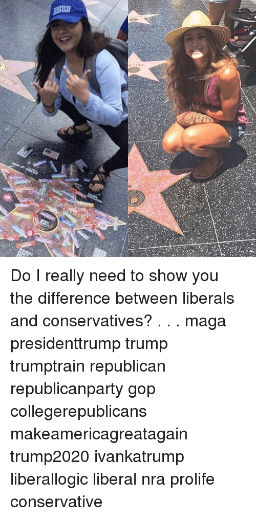 Memes, Trump, and Conservative: Do I really need to show you the difference between liberals and conservatives? . . . maga presidenttrump trump trumptrain republican republicanparty gop collegerepublicans makeamericagreatagain trump2020 ivankatrump liberallogic liberal nra prolife conservative