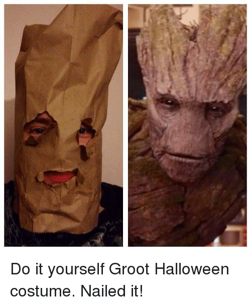 Do it yourself groot halloween costume nailed it funny meme on me funny halloween and halloween costumes do it yourself groot halloween costume nailed solutioingenieria Gallery