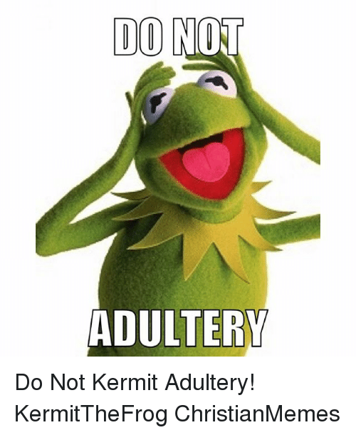 do not adultery do not kermit adultery kermitthefrog christianmemes 770193 search adultery memes on me me