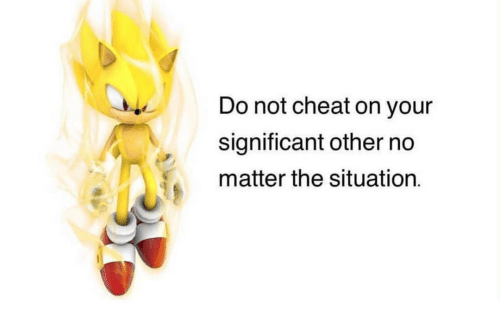 The Situation, Cheat, and Matter: Do not cheat on your  significant other no  matter the situation.