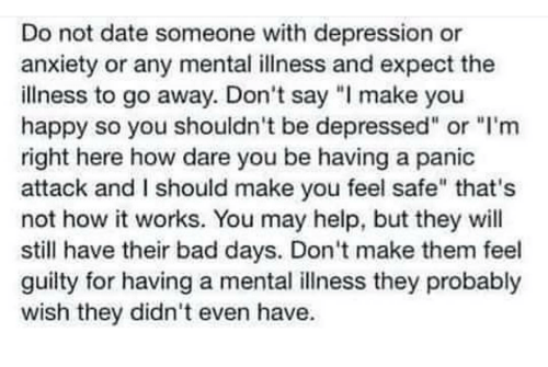 What to expect when dating someone with depression and anxiety