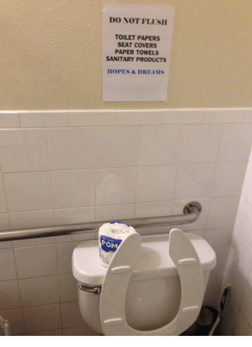 do not flush toilet papers seat covers paper towels sanitary