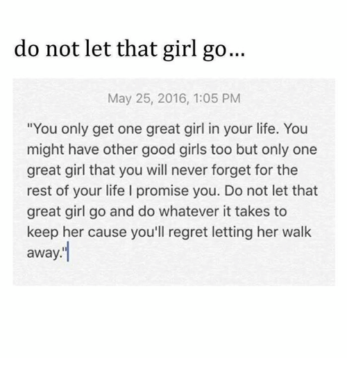 How to not regret dating a girl