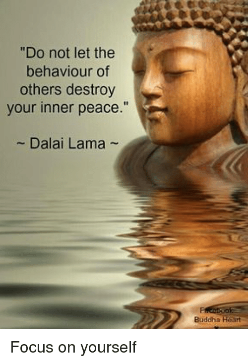 Do not let the behaviour of others