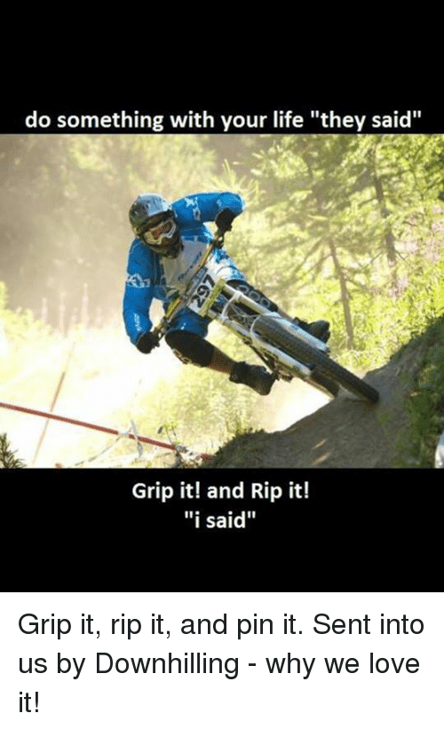 do something with your life they said grip it and rip it i said