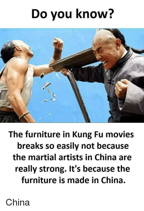 Movies China And Furniture Do Vou Know The In Kung Fu