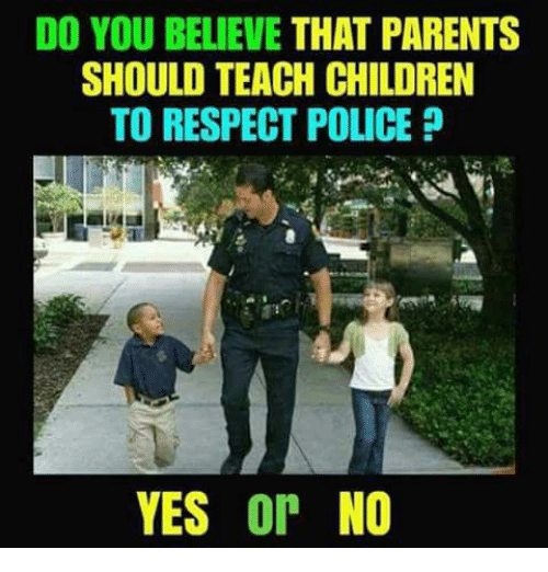 DO YOU BELIEVE THAT PARENTS SHOULD TEACH CHILDREN TO RESPECT