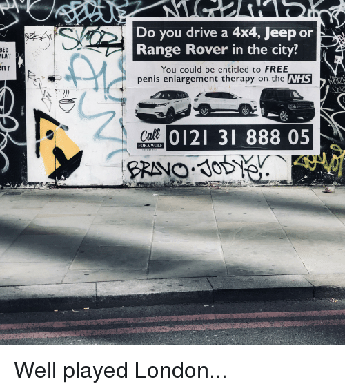 Do You Drive a 4x4 Jeep or Range Rover in the City? BED LAT