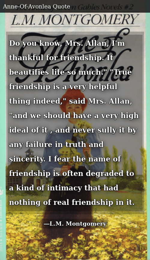 Do You Know Mrs Allan I\'m Thankful for Friendship It ...