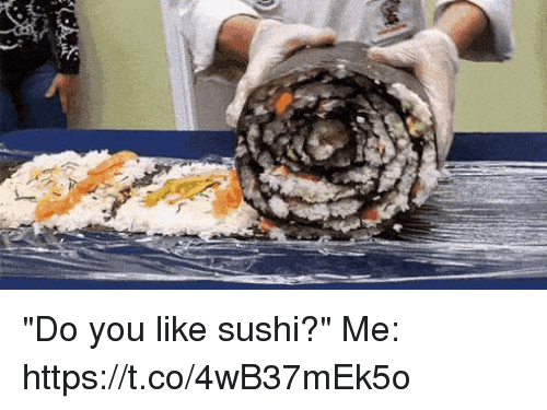 "me.me: ""Do you like sushi?""   Me: https://t.co/4wB37mEk5o"