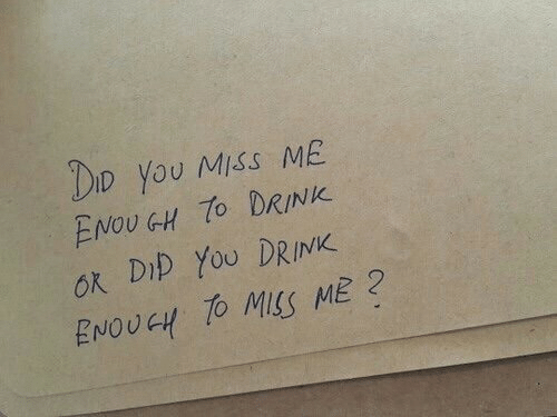 You, Miss, and Dip: Do You Miss ME  ENOUGH DRINK  ok Dip YoU DRINK  ENOUGH TO MSS ME?