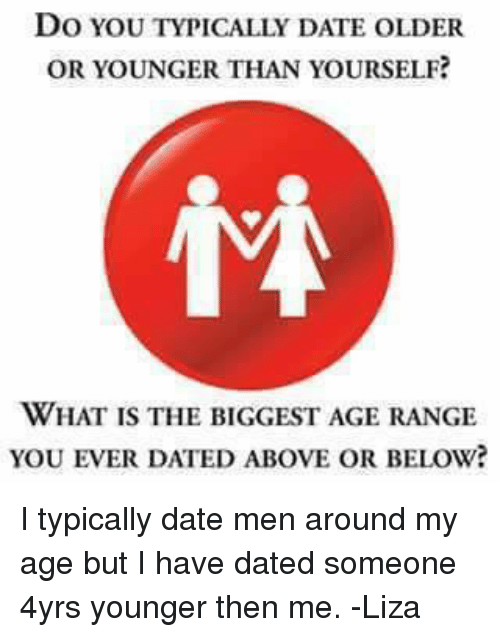 Dating a man younger than you