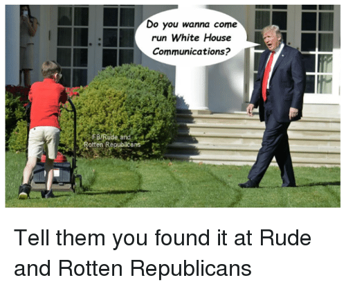 Do You Wanna Come Run White House Communications Ratten