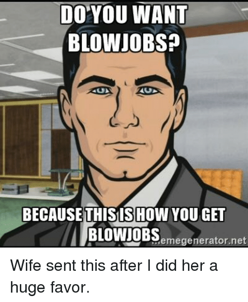 How to get a blowjob from wife