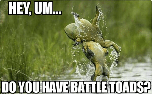 Toads, Battle, and Battle Toads: DO YOUHAVE BATTLE TOADS
