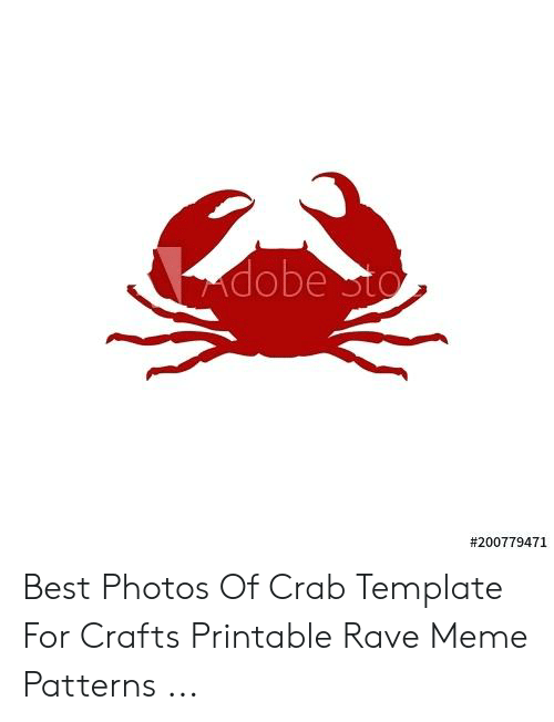 graphic regarding Crab Stencil Printable named Dobe Sto Least complicated Shots of Crab Template for Crafts Printable