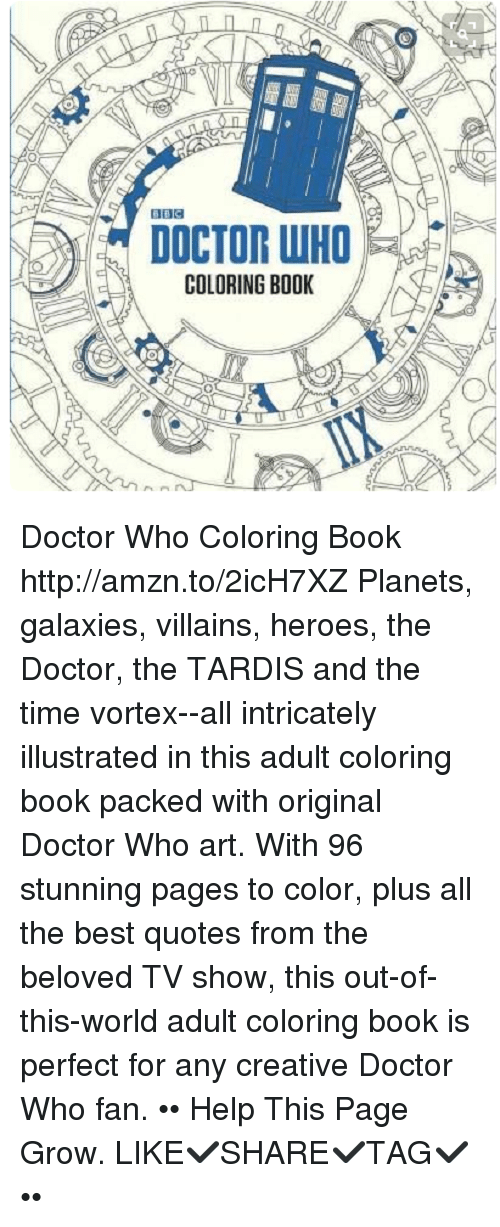 Memes TV Shows And Doctor Who DOCTOR WHO COLORING BOOK Coloring