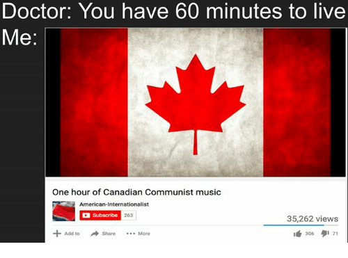 Doctor You Have 60 Minutes to Live One Hour of Canadian