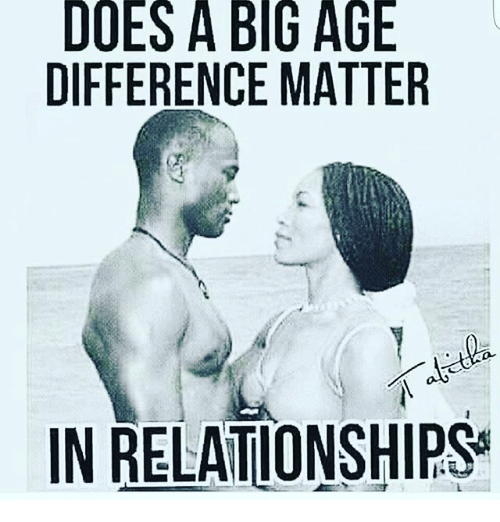 Does age difference matter in a relationship