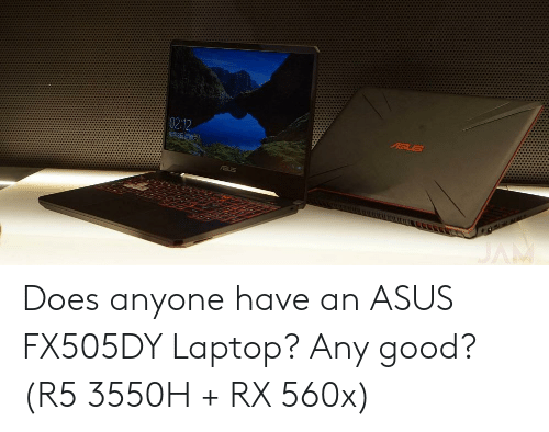 Does Anyone Have an ASUS FX505DY Laptop? Any Good? R5 3550H + RX