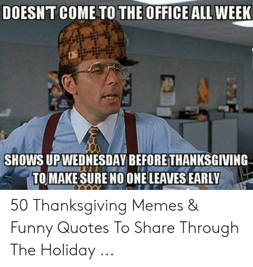 Thanksgiving comes early in the office