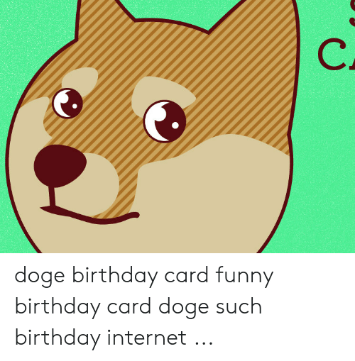 Birthday Doge And Funny Card Such