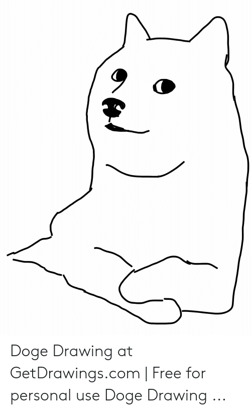 Doge Drawing at GetDrawingscom | Free for Personal Use Doge