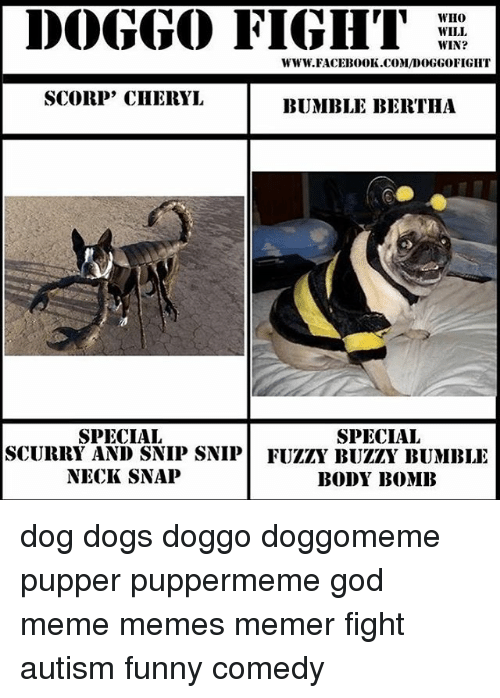 doggo fight who will win www faceb000k com doggoofight scorp cheryl bumble 7284130 ✅ 25 best memes about neck snap neck snap memes