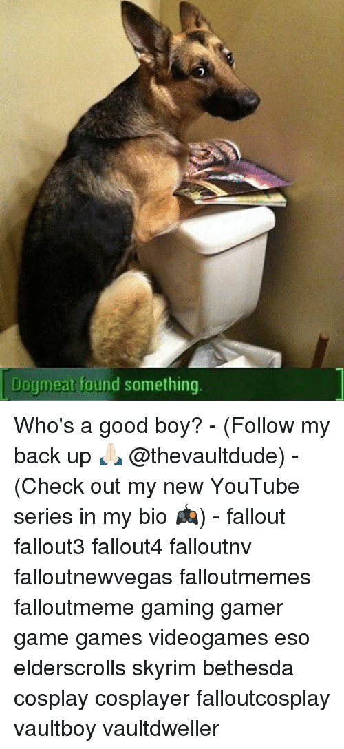 Dogmeat Found Something Who's a Good Boy? - Follow My Back