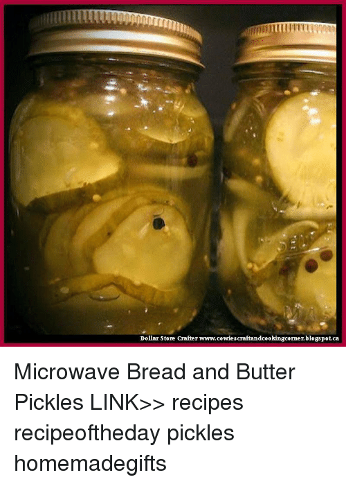 dollar store crafter www cowiescraftandcookingcorner blogspot ca microwave bread and butter pickles link%3E%3E 11103617 ✅ 25 best memes about microwave bread microwave bread memes