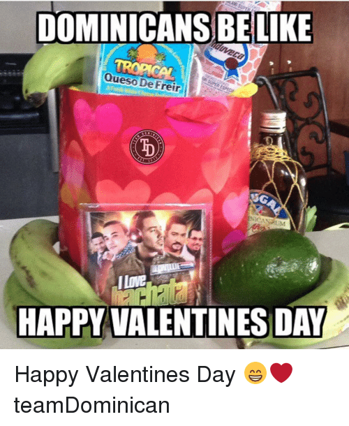 Memes, Queso, and 🤖: DOMINICAANSBELIKE  Queso De Freir  00 M  I Love  HAPPY VALENTINES DAY Happy Valentines Day 😁❤️ teamDominican