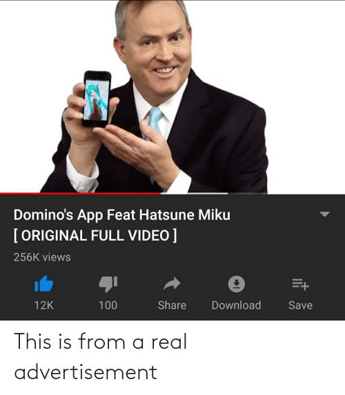 Dominos App Feat Hatsune Miku Original Full Video 256k