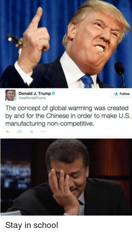 donald j trump follow orealdonaldtrump the concept of global warming 3519677 donald j trump follow orealdonaldtrump the concept of global warming