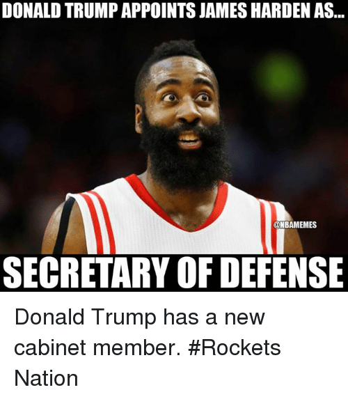 donald trump appoints james harden as nbamemes secretary of defense 6355684 donald trump appoints james harden as nbamemes secretary of,Harden Memes