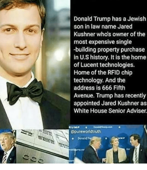 Donald Trump Has a Jewish Son in Law Name Jared Kushner Who's Owner