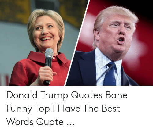 Donald Trump Quotes Bane Funny Top I Have The Best Words Quote