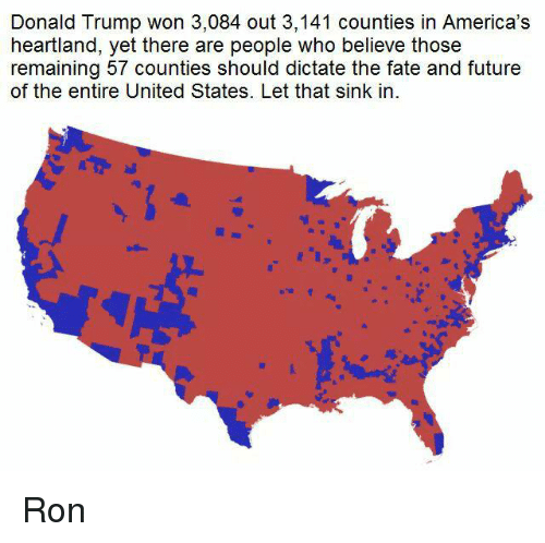 430478111ded8 Donald Trump Won 3084 Out 3141 Counties in America s Heartland Yet ...