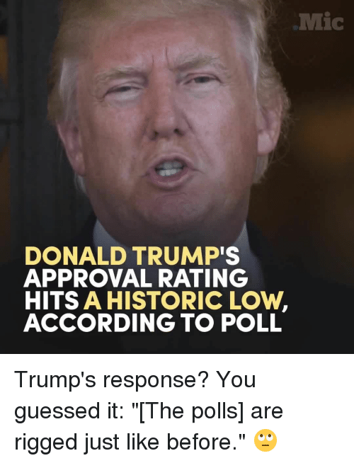 donald trumps approval rating hits a historic low according to 12335543 donald trump's approval rating hits a historic low according to poll