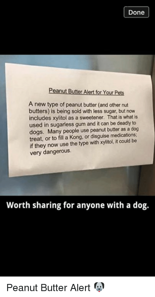 Done Peanut Butter Alert for Your Pets a New Type of Peanut Butter