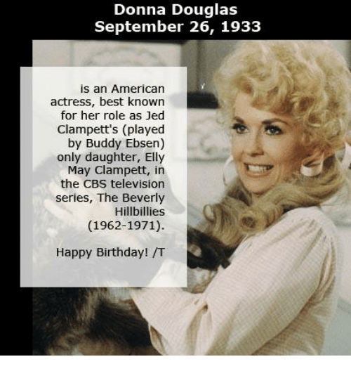 donna douglas september 26 1933 is an american actress best 7476575 ✅ 25 best memes about elly may clampett elly may clampett memes