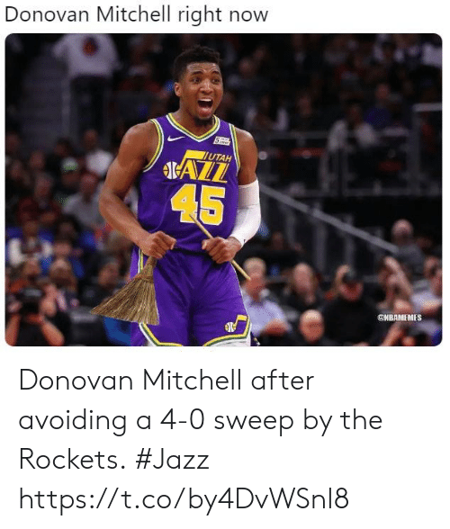 628cc863d83 Donovan Mitchell Right Now UTAH 45 Donovan Mitchell After Avoiding a ...
