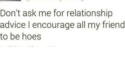 Ask for relationship advice
