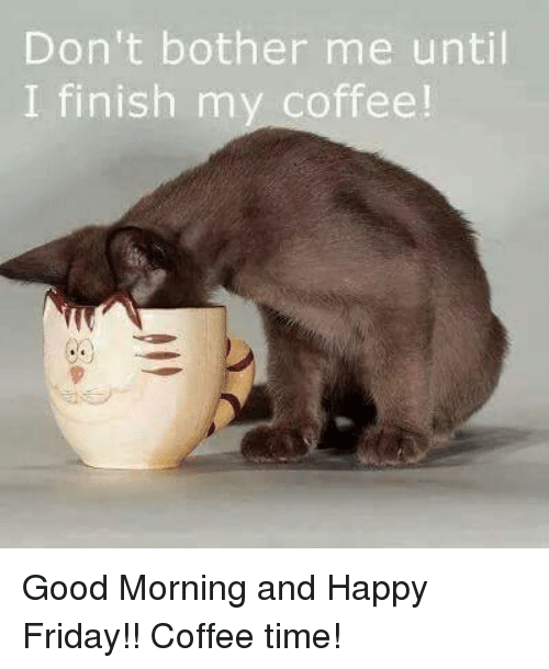 25 Best Memes About Friday Coffee Friday Coffee Memes