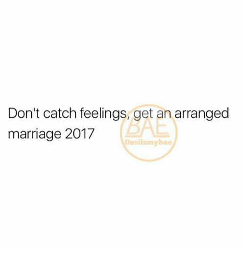 Don't Catch Feelings Get an Arranged Marriage 2017 Slismybae