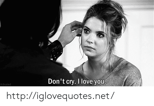 Love, I Love You, and Http: Don't cry. I love you  itsburied http://iglovequotes.net/
