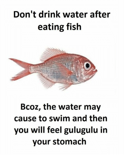 dont drink water after eating fish bcoz the water may 21737579 don't drink water after eating fish bcoz the water may cause to